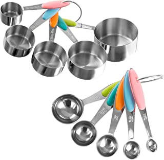 Classic Cuisine 82-KIT1036 Measuring Cups & Spoons Set, Normal, Stainless Steel