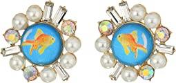 Betsey Johnson - Goldfish Stud Earrings