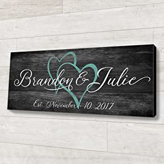 Family Established Wood Sign Personalized Wedding or Anniversary Gift