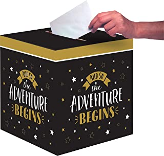 Creative Converting Grad Adventure Card Box, 12-Inch x 12-Inch Size, Multicolour