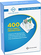 400 Page Protectors 8.5 x 11, Top Loading / 3 Hole Design Sheet Protectors, Archival Safe for Photos or Printed Copy, Hold...
