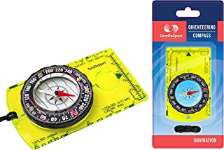 Orienteering Compass - Hiking Backpacking Compass - Advanced Scout Compass for Camping and Navigation - Boy Scout Compass for Kids - Professional Field Compass for Map Reading - Best Survival Gifts