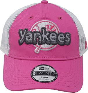 cb88596c6fa New Era 9Twenty Kid s Youth New York Yankees Pink Pop Stitcher Girls Cap