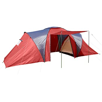 Tenda da Campeggio Igloo a Cupola per 4 Persone Loksa 210x450x185cm Verde