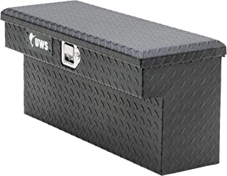 UWS EC10993 33-Inch Matte Black Heavy-Wall Aluminum UTV Side Tool Box for Select Polaris Ranger, RigidCore Lid
