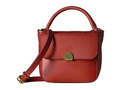Madewell Mini Abroad Crossbody Bag (Dark Cinnabar) Handbags
