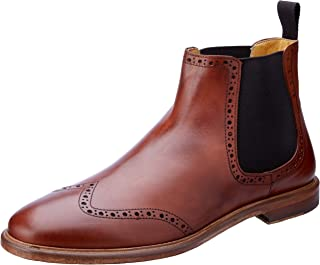 Brando Men's Jefferson Brogue Gusset Boots