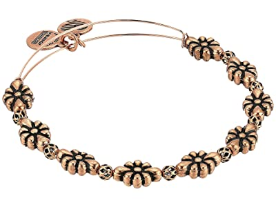 Alex and Ani Blossom Bangle (Rafaelian Rose Gold) Bracelet