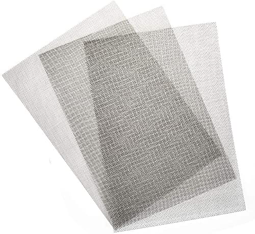 304 Stainless Steel Woven Mesh Sheet 51/% Open Area 12 Width Finish ASTM E2016-06 Mill 0.0095 Wire Diameter 12 Length Unpolished