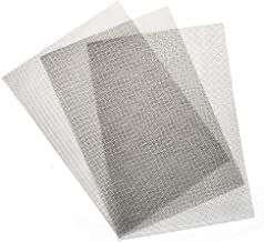 """TIMESETL 3pcs Stainless Steel Woven Wire 20 Mesh - 12""""x8""""(30x21cm) Metal Mesh Sheet 1mm Hole Great for Air Ventilation - A4"""