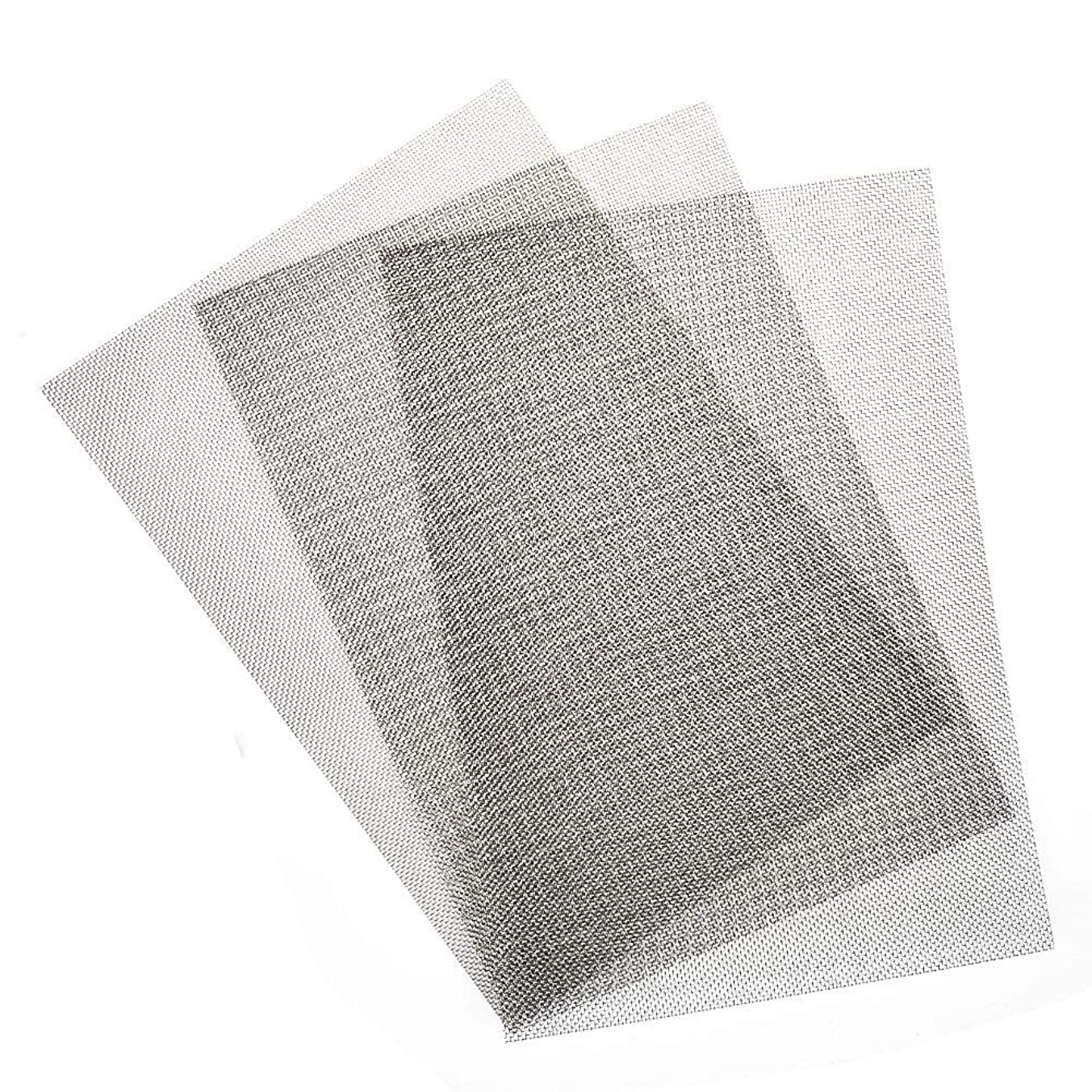 TIMESETL 3pcs Stainless Steel Woven Wire 20 Mesh - 12