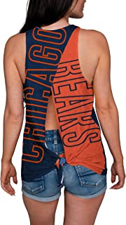 FOCO NFL Womens Tie Breaker Sleeveless Fashion Top