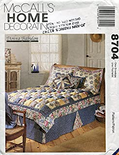 McCall's Home Decorating Pattern 8704 Puff Quilt and Accessories by Donna Babylon
