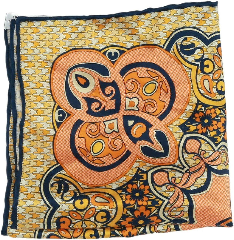 Italo Ferretti Men's Silk Medallian Floral Pocket Square