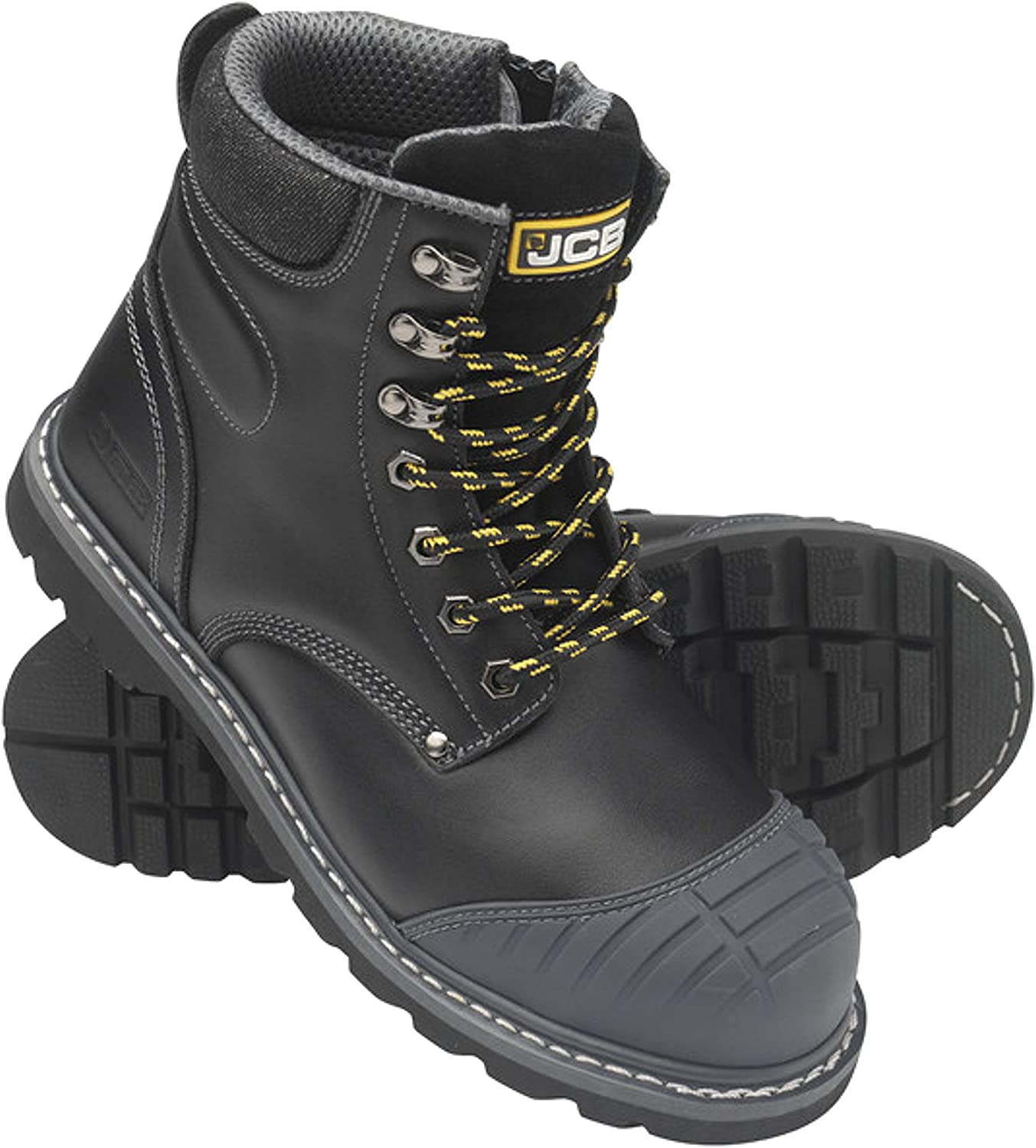 JCB 5CX+ Side Zip S1P SRC Leather Steel Toe Cap Work Safety Boots