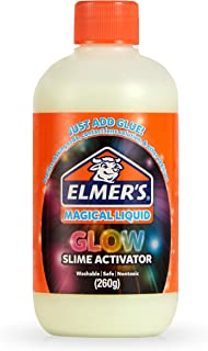Elmer's Glow In The Dark Slime Activator | Magical Liquid Glue Slime Activator, 8.75 FL. oz. Bottle - Great for Making Glow In The Dark Slime