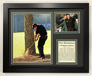 Legends Never Die PGA Phil Mickelson 2010 Masters Champion Framed Double Matted Photos, 12