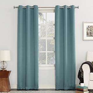 Sun Zero Easton Blackout Energy Efficient Grommet Curtain Panel, 40x95, Mineral
