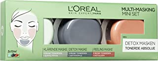 "L""Oréal Paris Tonerde Absolue Multi Masking Set, 1er Pack 3 x 10 ml"