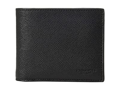 COACH 3-in-1 Wallet in Crossgrain (Black) Bill-fold Wallet