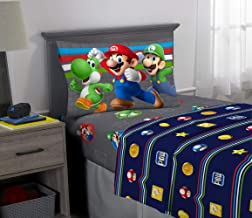 Franco Kids Bedding Super Soft Sheet Set, 3 Piece Twin Size, Mario