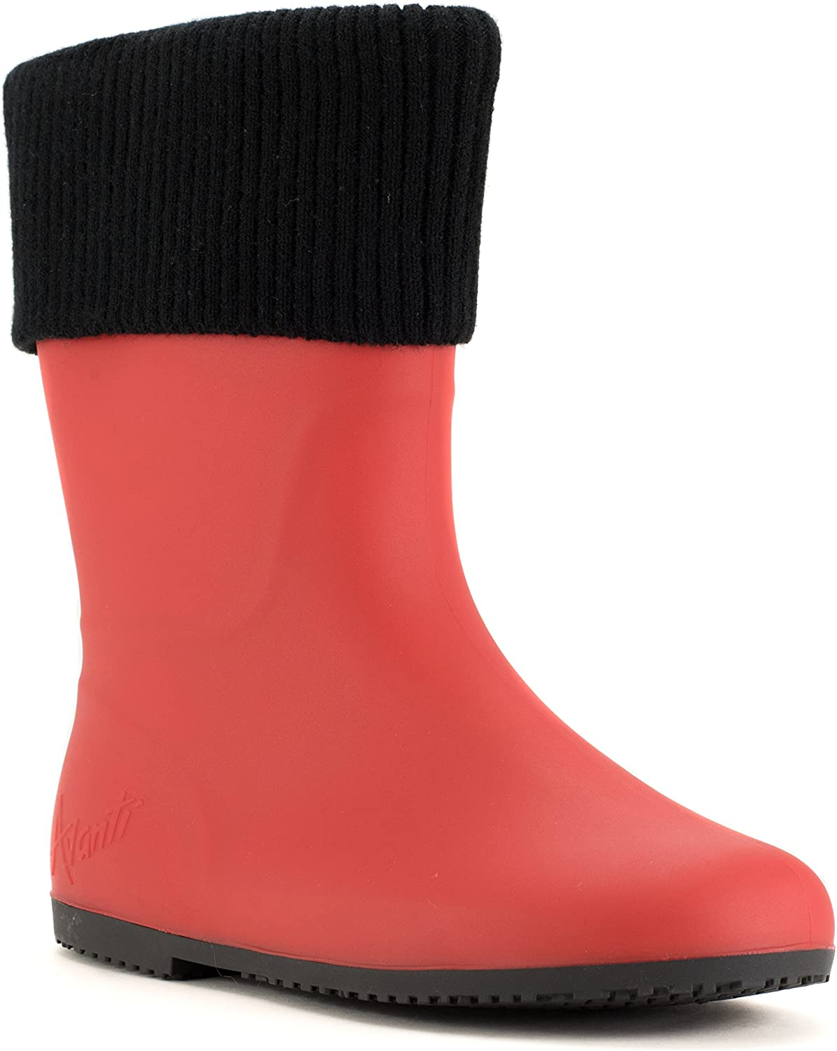 Avanti Storm Rain Boot Waterproof with Removable Knitted Cuff Monogram-Able Foldable