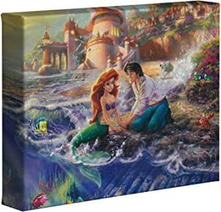 Thomas Kinkade Disney The Little Mermaid 8 x 10 Gallery Wrapped Canvas