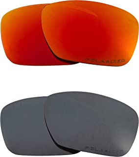 Replacement Lenses Compatible with OAKLEY TINCAN Polarized Black Iridium & Red