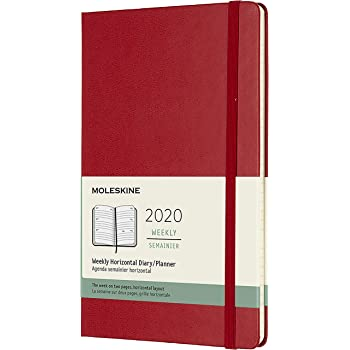 copertina rigida colore: Rosa scuro Moleskine 8058647628462 Agenda 18 mesi 2019//2020