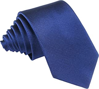 Lovacely Men's Solid Color Skinny Ties, 2.4 Inch Slim Necktie Various Basic Color Ties for Wedding|Party|Office|Gift