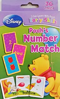 Winnie The Pooh Number Match Flash Cards Game - Basic Counting Skills (Learn School Homeschool Practice - Fun!)