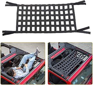 Mesh Cargo Net, Auto Roof Net Hammock for Jeep Wrangler YJ TJ JK JKU JL JLU 1987-2020