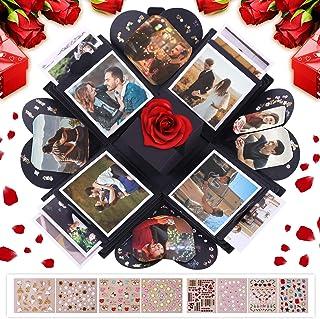 VPCOK Explosion Box, DIY Álbum de Fotos, Caja de Regalo para Cumpleaños Día de San Valentín Aniversario Navidad, Caja de F...