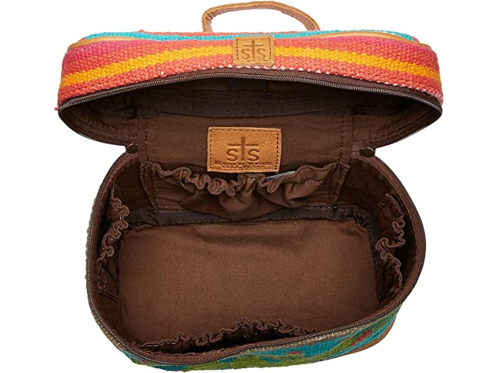 Sts Ranchwear Cactus Serape Train Case Pink/turquoise/green Bag And Travel Accessories