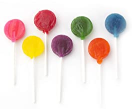 Oh! Nuts Hard Candy Lollipops in Rainbow Colors | Seven Premium Lolly Varieties in 1-Pound Party Bag of Kosher Lollies for Kids' Birthdays, Halloween and Office Sweets| Individually Wrapped Suckers