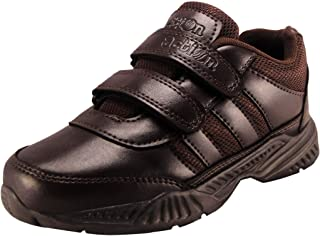 Action Shoes Synergy Boy's and Girl's Brown School Shoes (1)