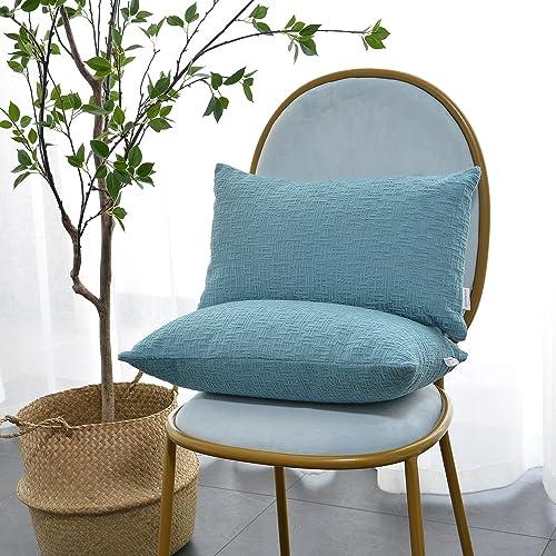 Blue Lumbar Pillows Amazon Com