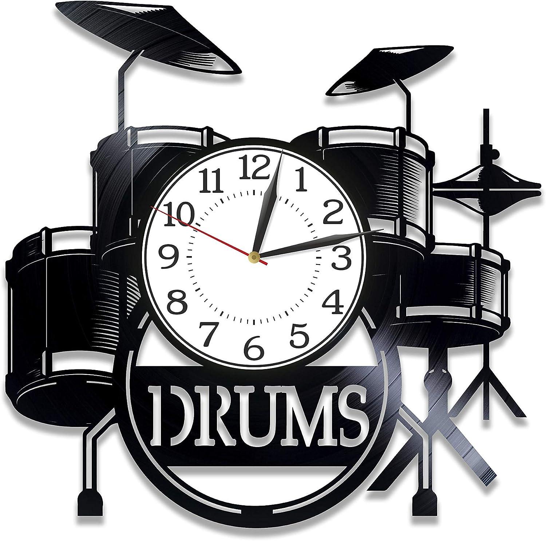 Kovides Drums Nippon regular agency Birthday Gift Popular brand in the world Idea Clock Instrument Vinyl Musical