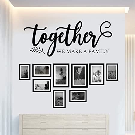Together We Make a Family Wall Decal Vinyl Art Sticker Quote Decor Lettering F68