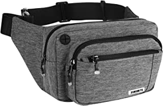 Sincerity Waist Pack for Men, Waist Bumbags Multifunctional Water-Repellent Waist Bag Adjustable Strap for Traveling Casual Running Hiking Cycling Holiday