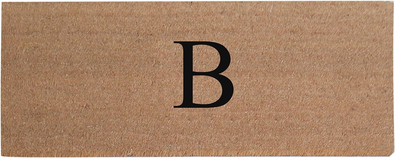 A1 HOME COLLECTIONS First Impression A1HC Plain Coir Doormat, Monogrammed-B, 20 x48 (A1HOME200021-2-B)