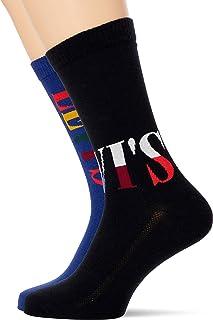 Levi's Split Tall Logo Unisex Regular Cut Socks (2 Pack) (Pack of 2)