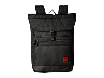 Hedgren Flaps Backpack with Flap 15.6 (Black) Backpack Bags