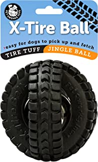 Pet Qwerks X-Tire Ball Interactive Dog Toy - Rugged Tires with a Sound Ball in The Center, Interactive Toys That Make Noise, Toys for Boredom   Best for Light & Moderate CHEWERS