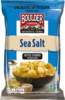 Boulder Canyon Totally Natural Sea Salt Kettle Cooked Potato Chips, 142 g
