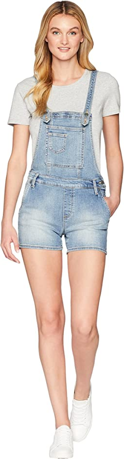 Miss Me Five-Pocket Overall Shorts