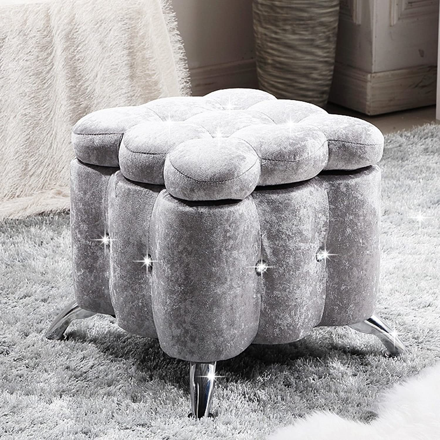 ZHANGRONG- Creative Square Admission Sofa Stool European - Style Cloth shoes for shoes Stool Clothing Store Sofa Stool (color Optional) (color    6)