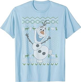 Disney Frozen Olaf Sven Ugly Christmas Sweater T-Shirt
