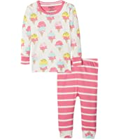 Hatley Kids Ice Cream Treats Long Sleeve Mini Pajama Set (Infant)
