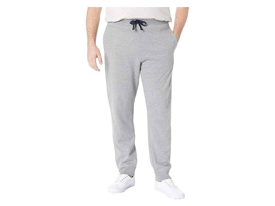 Nautica Big & Tall Big Tall Knit. Pants w/ Rib Cuff (Stone Grey Heather) Men